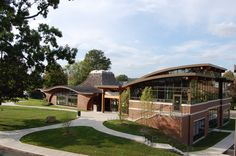 Another outside shot of the Byram Shubert Library in Greenwich, CT. Such fun and interesting roof lines and profiles.