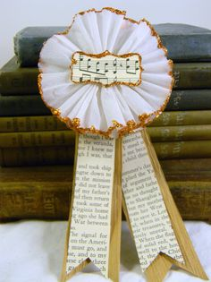 Vintage Crepe Paper Rosette Ribbon