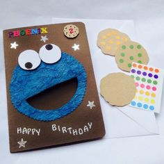 Treat yourself birthday card paper treats pinterest fun handmade personalised cookie monster birthday card and game bookmarktalkfo Choice Image