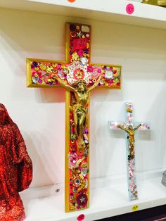 Bohemian Living, Crucifix, Decoration, Gods Love, Kitsch, Home Art, Jesus Christ, Origami, Recycling