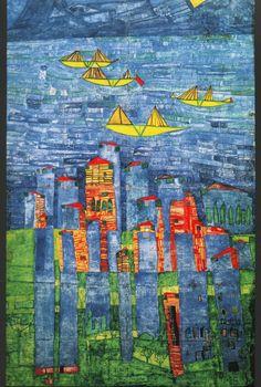 Sea of Tunis and Taormina --- Hundertwasser