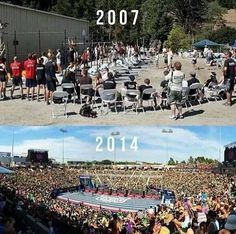 Crossfit Games 2007 vs 2014 --- one of my personal goals is to get to one of these as a participant!