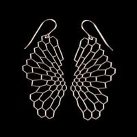 radiolaria earrings by Nervous System
