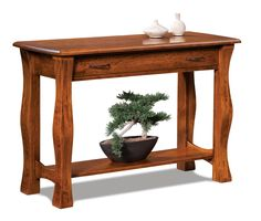 Amish Reno Open Sofa Table with Drawer Middlebury Furniture Collection