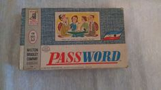 Vintage Password Volume 2 Two Word Board Game Milton Bradley 1962 Complete #MiltonBradley