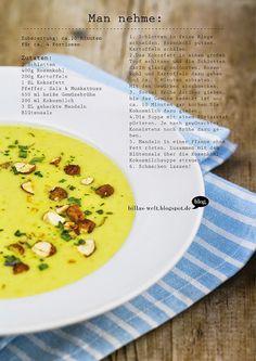 Billas Welt: Rosenkohl-Kokossuppe mit gerösteten Mandeln
