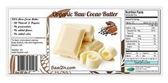 2 Lb Certified Organic Cocoa Butter Pure Raw Unprocessed Incredible Quality and Scent Use for Lotion Cream Lip Balm Oil Stick or Body Butter Organically Grown NONGMO By SaaQin *** You can get additional details at the image link.