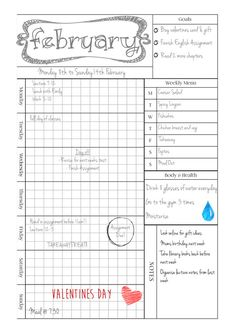 Weekly Planner A4 by ScatteredPapers1 on Etsy