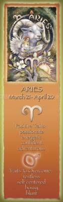 Zodiac Series / Aries - Bookmark  by Jody Bergsma