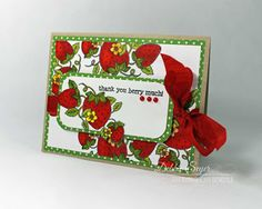 Thank you berry much by @debbiemom23cs  for @therubbercafe using @echoparkpaper #Card #stamping #creativecafekotm