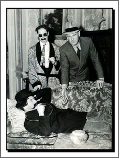Groucho Marx, Chico Marx & Director Sam Wood