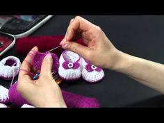 Video Tutorial - Scarpette estive in cotone lilla ad uncinetto (Seconda Parte) - videocorso full HD - YouTube