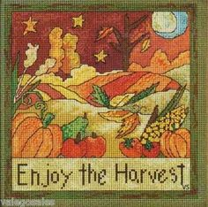 I am an autumn-lover, through and through. This cross stitch pattern has an almost stain-glass look to it, that when paired with a beautiful burnt color palette makes the perfect autumn centerpiece. Available from Stoney Creek: http://store.stoneycreek.com/mill-hill-sticks-kit---enjoy-the-harvest-p12166c187.aspx?Thread=True