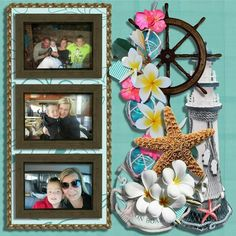 Family holiday scrapbooking layout using Carolyn scrap creations.  Find all her links on Facebook group DIGI ART DEN.