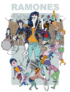 Illustration for the italian music magazine XL. The illustration is the cover for a special about Ramones.  by Luca Tieri