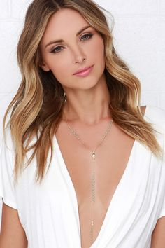 Marine Layer Gold Layered Necklace at Lulus.com!