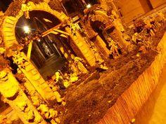 Presepe nells fontana a Forio d'Ischia.