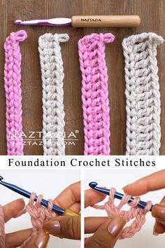 Easy Crochet Stitches, Crochet Stitches For Beginners, Crochet Videos, Crochet Basics, Knit Or Crochet, Easy Knitting, Start Knitting, Beginner Crochet Patterns, Things To Crochet