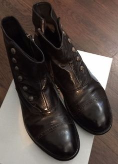 OFFICINE CREATIVE - NERO - BUTTON/ZIPPER BOOTS - Black - Size 43 #JohnVarvatos #AnkleBoots