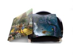 Thomas Kinkade THE WIZARD OF OZ (DOROTHY Discovers the EMERALD CITY) StarFire PrintsTM Glass Print Coaster Set SP1012CUR280