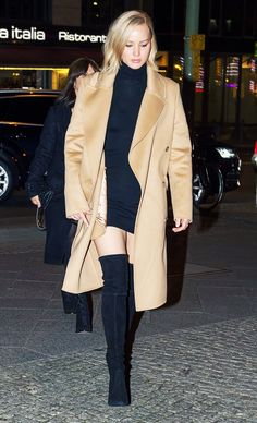 How to Wear a Camel Coat Like a Celebrity via @WhoWhatWear