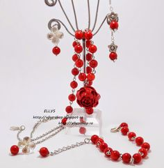 Ellys Shop: Set coral si accesorii argintii Coral, Pandora Charms, Charmed, Bracelets, Handmade, Shopping, Jewelry, Hand Made, Jewlery