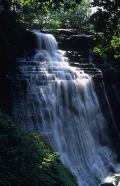 Brandywine Falls in Cuyahoga Valley National Park, Ohio Brandywine Falls, Cuyahoga Falls, The Buckeye State, Beautiful Waterfalls, Park Service, Go Camping, Outdoor Camping, Adventure Is Out There, Amazing Nature