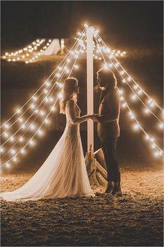 teepee lights backdrop @weddingchicks