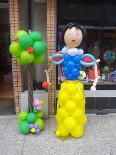 biancaneve altezza 1,80 realizzata con i palloncini