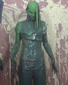 Oh ooops! #messyfun #wam #gunge #model #messymodel #hotmodel #hotmess #washme #brunette