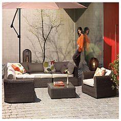 Home & Garden Living seccional Ratán PE 7 piezas