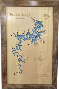 Items similar to Beaver Lake, Arkansas Wood Laser Cut Topographical Engraved Map on Etsy Laser Cut Wood, Laser Cutting, Beaver Lake Arkansas, New Panel, Heavenly Places, Warm Blankets, Laser Engraving, Stuff To Do, Vintage World Maps