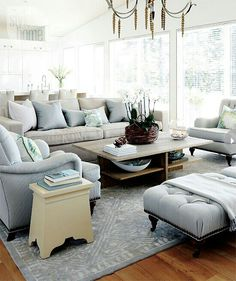 Great soft blue and natural linen colors