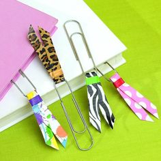 Duct tape bookmarks!  This will work for Bookmark-IT!