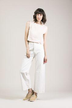 Kate Crop Top, Blush by Ilana Kohn #kickpleat #ilanakohn