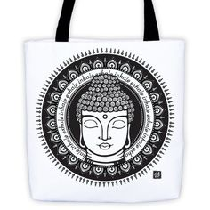 Buddha - Inhale/Exhale - Tote bag (see more colors)
