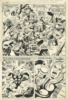 THOR #137 PAGE 4 2/3 SPLASH ( 1967, JACK KIRBY ) Comic Art