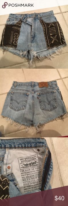 Renewed Levi's from Urban! Cute jean shorts for this summer! Also, I'm a real life 8 and they do not fit. So I would suggest being smaller than a 8 maybe a 6 or 4 to purchase Levi's Shorts Jean Shorts