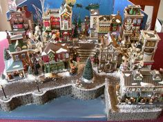 Display Platform for Dept 56 CIC, Dickens, Snow Village Department 56 Christmas Village, Christmas Village Sets, Christmas In The City, Christmas Town, Christmas Villages, Beautiful Christmas, Christmas Holidays, White Christmas, Christmas Ornament