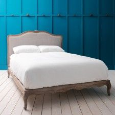 Antoinette Bed in Herringbone - Also Available With Footboard