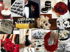 red, black and white. OREOS