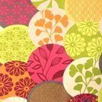 Tissu enduit fleuri - Les Tissus du Chien Vert