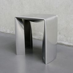 The Simple Things by Sara Mellone.  These aluminium stools and benches by design graduate Sara Mellone are designed to look like folded pieces of paper.