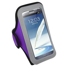 MYBAT Vertical Pouch Universal Purple Sport Armband (267) (NO Package) for SAMSUNG I717 (Galaxy Note) SAMSUNG T879 (Galaxy Note) SAMSUNG Galaxy Note II (T889/I605/N7100). Carry your phone whenever you're on the go with the Lifestyle Armband Case;. Armband Case provides carrying convenience when you're working out, jogging, performing outdoor activities or anytime you're on the go;. Features elastic straps on the sides to keep phone in place;. Super-lightweight water-wicked and flexible...