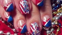 RED, WHITE and BLUE!!! Freedom nail fashion!!! Love this Holiday!! Fun nail designs!