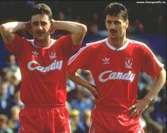 John Aldridge and Ian Rush Liverpool Football Club, Liverpool Fc, John Aldridge, Ian Rush, This Is Anfield, Red Day, You'll Never Walk Alone, Vintage Football, Football Players