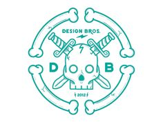 Design Bros tribute by Nick Slater Logos, Logo Branding, Branding Design, Logo Design, Branding Iron, Badge Design, Creative Illustration, Graphic Design Illustration, Retro Illustration