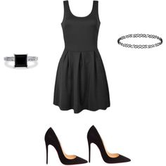 A fashion look from June 2015 featuring skater dresses, black pumps and solitaire ring. Browse and shop related looks. Black Pumps, Skater Dress, Darkness, Polyvore Fashion, Christian Louboutin, Fashion Looks, Shopping, Dresses, Style