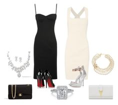 ying yang by pinkcrema on Polyvore featuring polyvore, fashion, style, Donna Karan, Christian Louboutin, Giuseppe Zanotti, Chanel, Yves Saint Laurent and Kate Spade