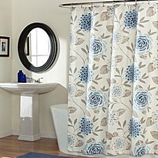 image of Jessica Shower Curtain in Blue